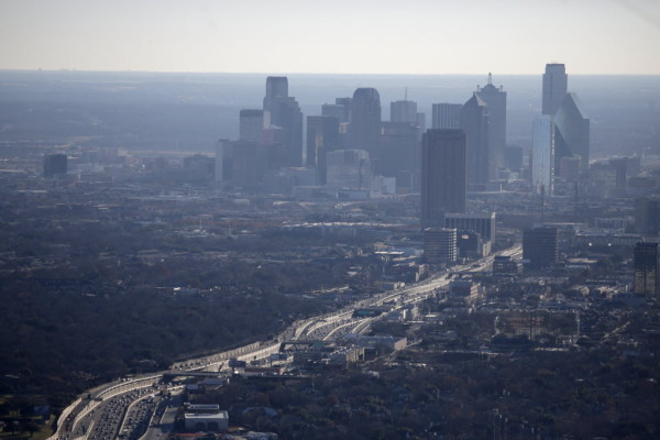 Photo of smog over Dallas (2014 File Photo Dallas Morning News/Nathan Hunsinger)